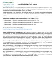 """""""Director Orientation Review: Statements of Understanding"""" - Nebraska"""