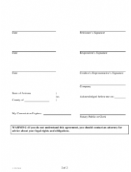 """""""Agreement With Creditor Template (Non Real Estate Related)"""" - Arizona, Page 2"""