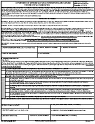 "DD Form 2813 ""Department of Defense Active Duty/Reserve/Guard/Civilian Forces Dental Examination"""