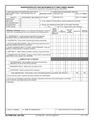 "DA Form 3439 ""Nonappropriated Fund Instrumentality Employment Inquiry"""
