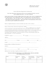 SBA Form 1010-NHO 8(A) Business Development (Bd) Program Application Native Hawaiian Organization-Owned Concern