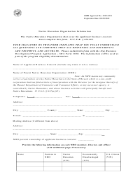 "SBA Form 1010-NHO ""8(A) Business Development (Bd) Program Application Native Hawaiian Organization-Owned Concern"""