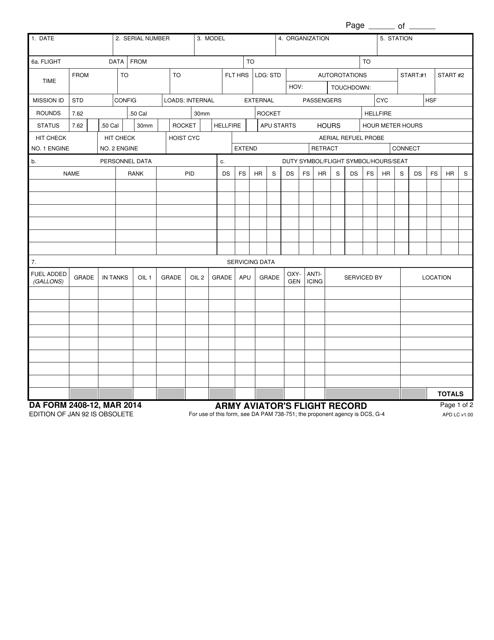 DA Form 2408-12  Printable Pdf