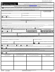 """VA Form 22-5495 """"Dependents' Request for Change of Program or Place of Training (Under Provisions of Chapters 33 and 35, Title 38, U.s.c.)"""""""