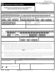 "VA Form 21-2680 ""Examination for Housebound Status or Permanent Need for Regular Aid and Attendance"""