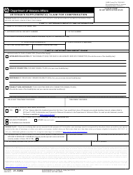 VA Form 21-526B Veteran's Supplemental Claim for Compensation