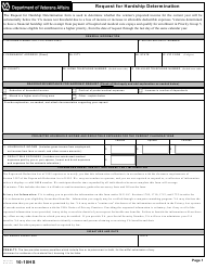 VA Form 10-10HS Request for Hardship Determination