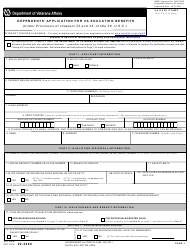 "VA Form 22-5490 ""Dependents' Application for VA Education Benefits (Under Provisions of Chapters 33 and 35, of Title 38, U.s.c.)"""