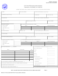 "SBA Form 770 ""Financial Statement of Debtor"""