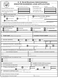 "SBA Form 5 ""Disaster Business Loan Application"""