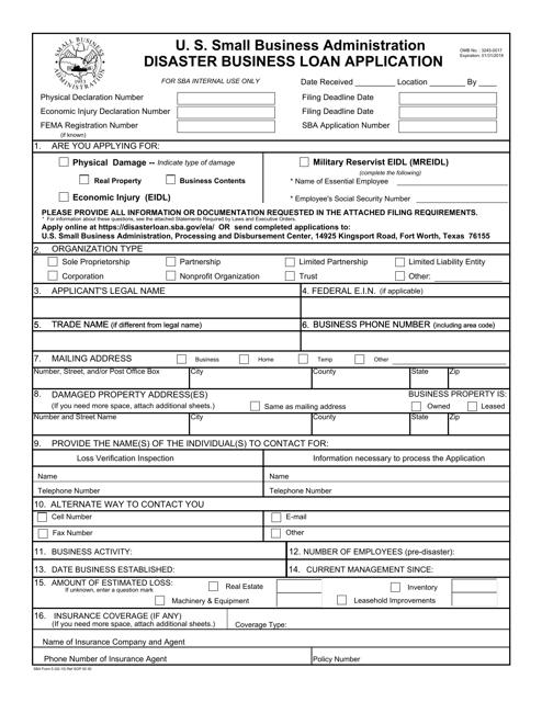 SBA Form 5 Fillable Pdf