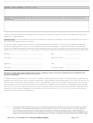 """SBA Form 413 """"Personal Financial Statement - 7(A) / 504 Loans and Surety Bonds"""", Page 3"""