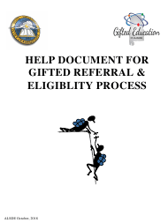 """Gifted Referral & Eligiblity Process Packet"" - Alabama"