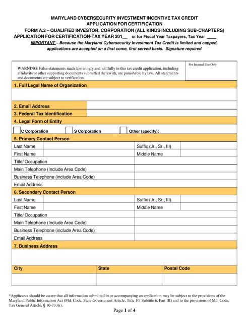 Form A.2  Printable Pdf