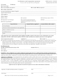 """SBA Form 159 """"Fee Disclosure and Compensation Agreement"""", Page 2"""