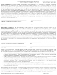 """SBA Form 159 """"Fee Disclosure and Compensation Agreement"""", Page 3"""