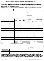 AF Form 428 Request for Overtime, Holiday Premium Pay, and Compensatory Time