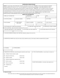 """AF Form 978 """"Supervisor's Mishap Report"""""""