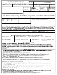 AF Form 988 Leave Request/Authorization