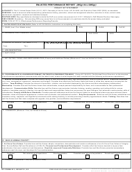AF Form 911 Enlisted Performance Report (Msgt Thru Smsgt)