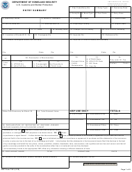 CBP Form 7501 Entry Summary With Continuation Sheets