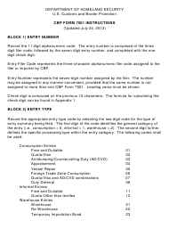 Instructions for Cbp Form 7501 - Entry Summary