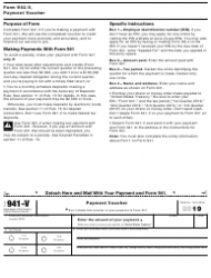 """IRS Form 941 """"Employer's Quarterly Federal Tax Return"""", Page 3"""