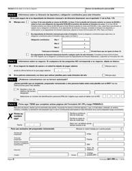 """IRS Formulario 941-PR """"Planilla Para La Declaracion Federal Trimestral Del Patrono"""" (Puerto Rican Spanish), Page 2"""