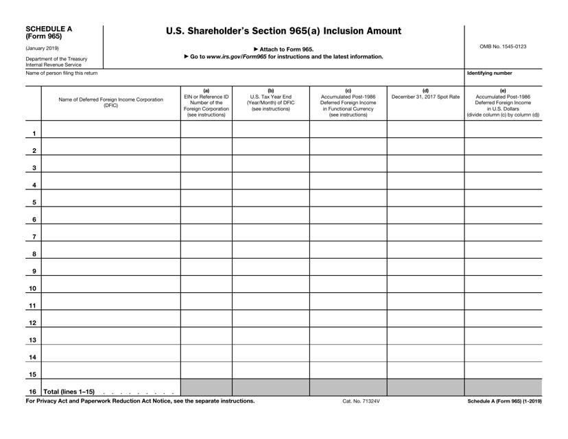 IRS Form 965 Fillable Pdf