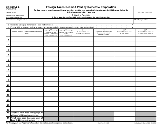 IRS Form 965 Fillable Pdf