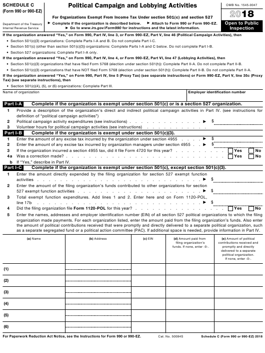 IRS Form 990 2018 Fillable Pdf