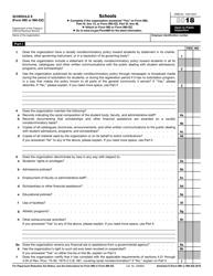 "IRS Form 990 (990-EZ) Schedule E ""Schools"", 2018"