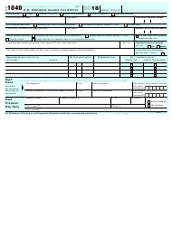 IRS Form 1040 2018 U.S. Individual Income Tax Return