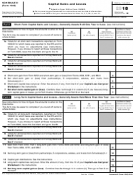 IRS Form 1040 2018 Schedule D - Capital Gains and Losses