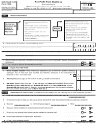 IRS Form 1040 2018 Schedule C-Ez - Net Profit From Business (Sole Proprietorship)