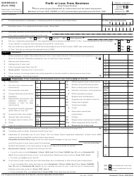 "IRS Form 1040 Schedule C ""Profit or Loss From Business (Sole Proprietorship)"", 2018"