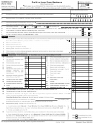 IRS Form 1040 2018 Schedule C - Profit or Loss From Business (Sole Proprietorship)
