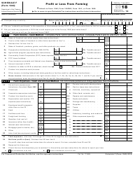 "IRS Form 1040 Schedule F ""Profit or Loss From Farming"", 2018"