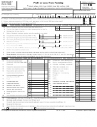 IRS Form 1040 2018 Schedule F - Profit or Loss From Farming