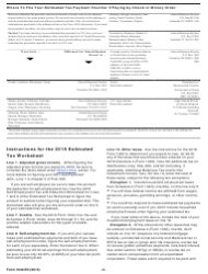 """IRS Form 1040-ES """"Estimated Tax for Individuals"""", Page 5"""