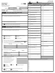 IRS Form 1065 2018 Schedule K-1 - Partner's Share of Income, Deductions, Credits, Etc.