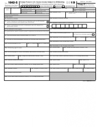"IRS Form 1042-S ""Foreign Person's U.S. Source Income Subject to Withholding"", Page 4"