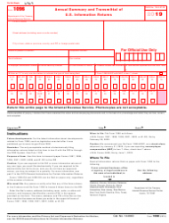 "IRS Form 1096 ""Annual Summary and Transmittal of U.S. Information Returns"", Page 2"