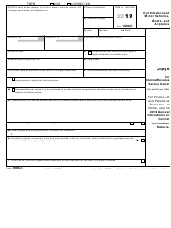 "IRS Form 1098-C ""Contributions of Motor Vehicles, Boats, and Airplanes"", 2019"
