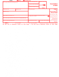 """IRS Form 1099-C """"Cancellation of Debt"""", Page 2"""