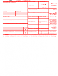 """IRS Form 1099-INT """"Interest Income"""""""