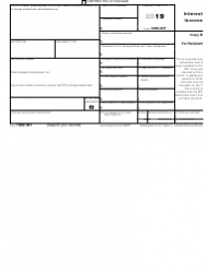 """IRS Form 1099-INT """"Interest Income"""", Page 3"""