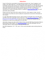 """IRS Form 1099-MISC """"Miscellaneous Income"""""""