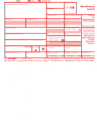 """IRS Form 1099-MISC """"Miscellaneous Income"""", Page 2"""