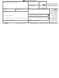 """IRS Form 1099-S """"Proceeds From Real Estate Transactions"""", Page 3"""